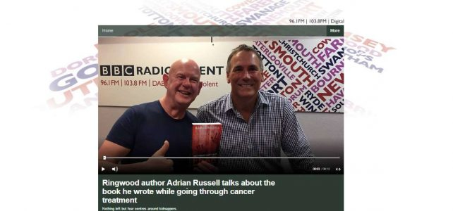 Adrian Russell with Julian Clegg on his breakfast show on BBC Radio Solent